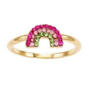 LC LAUREN CONRAD rainbow ring - Size 7 NEW